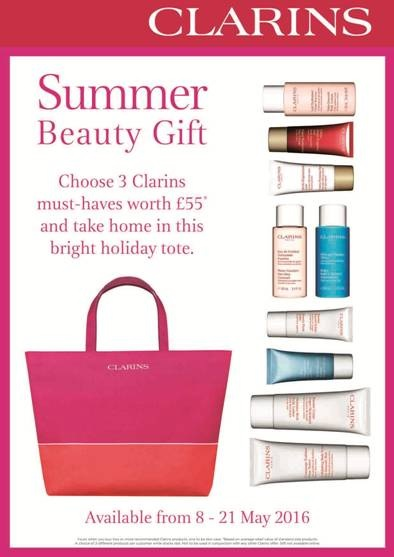 Clarins Gift with Purchase Summer Travel Offer - worth £55
