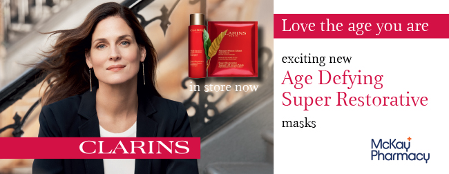 clarins offer august email - masks