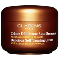 Tan with Clarins