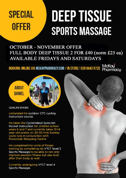 SPORTS MASSAGE 2 for £40 OFFER